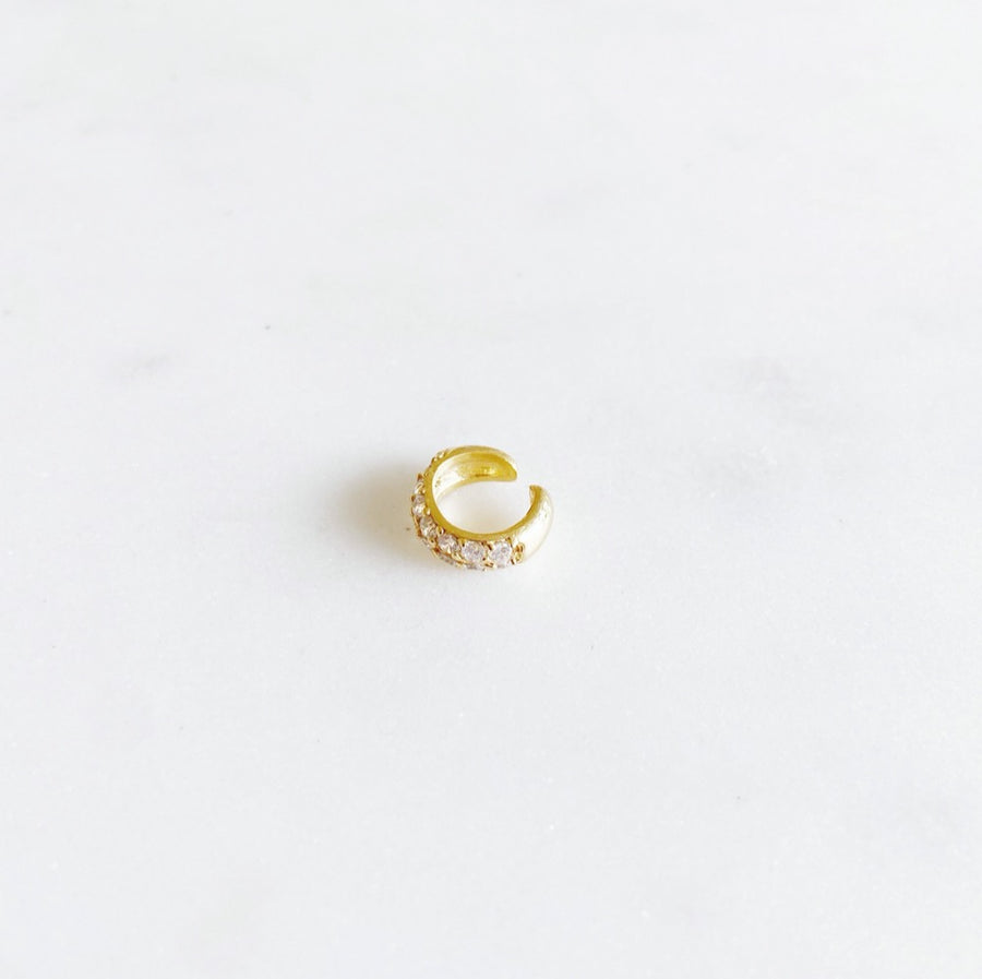 Pavé Golden - Ear Cuff