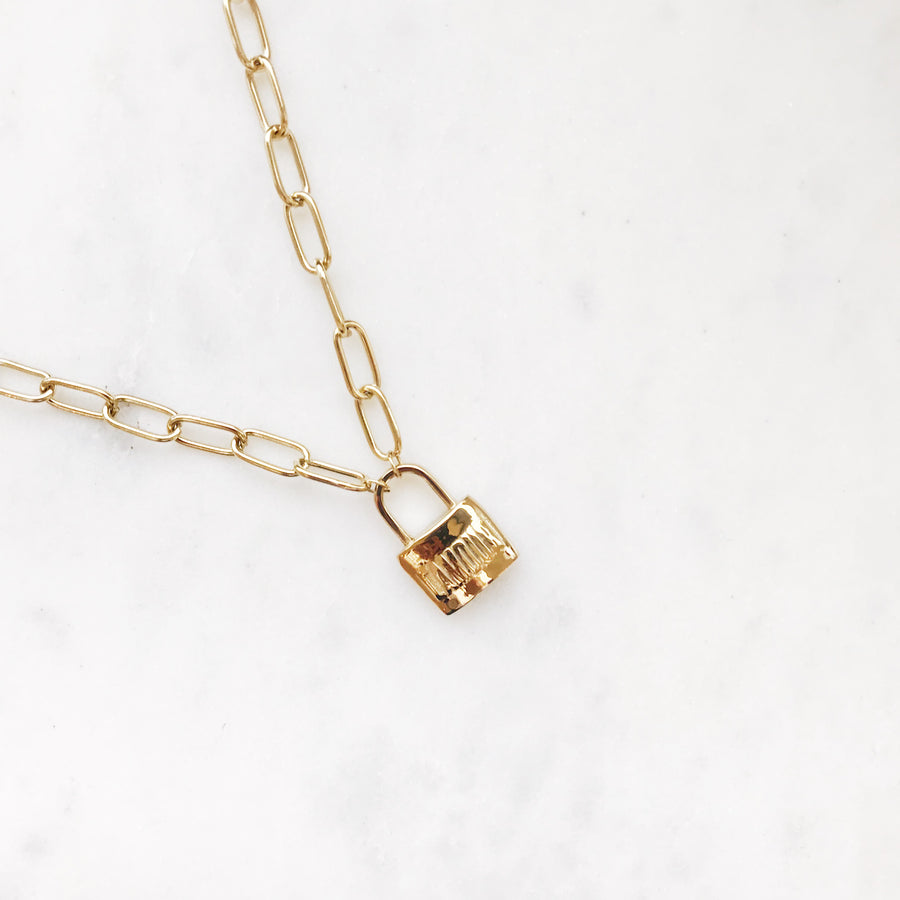 MJ-LOCK-GOLDEN-NECKLACE-GOUDEN-LOCK-KETTING-MY-JEWELLERY-PF1