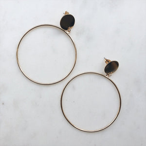 Kate Hoops Gold - Earrings