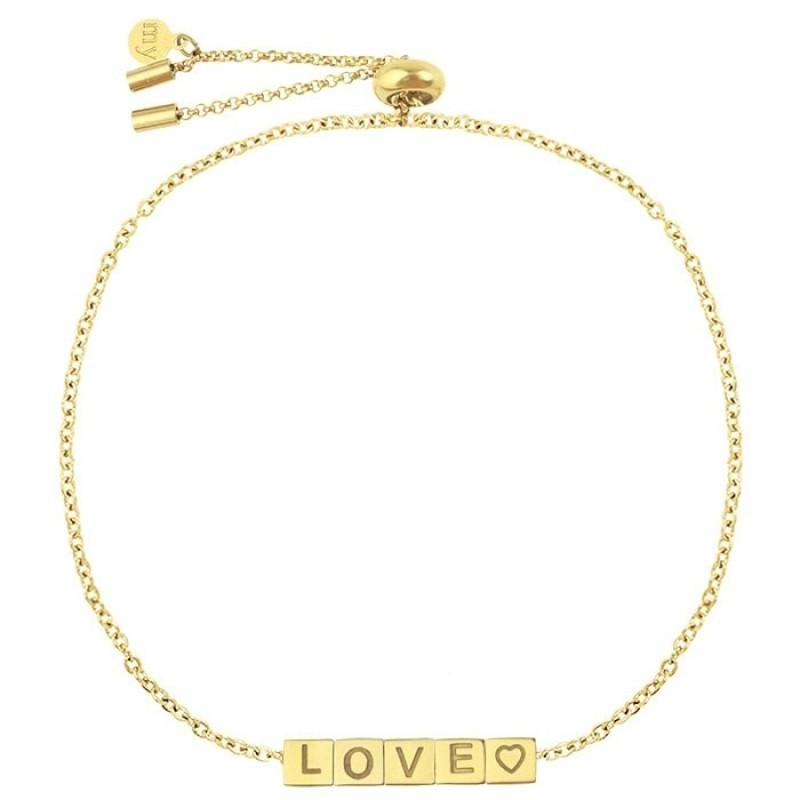 Love Cubes Gold - Bracelet
