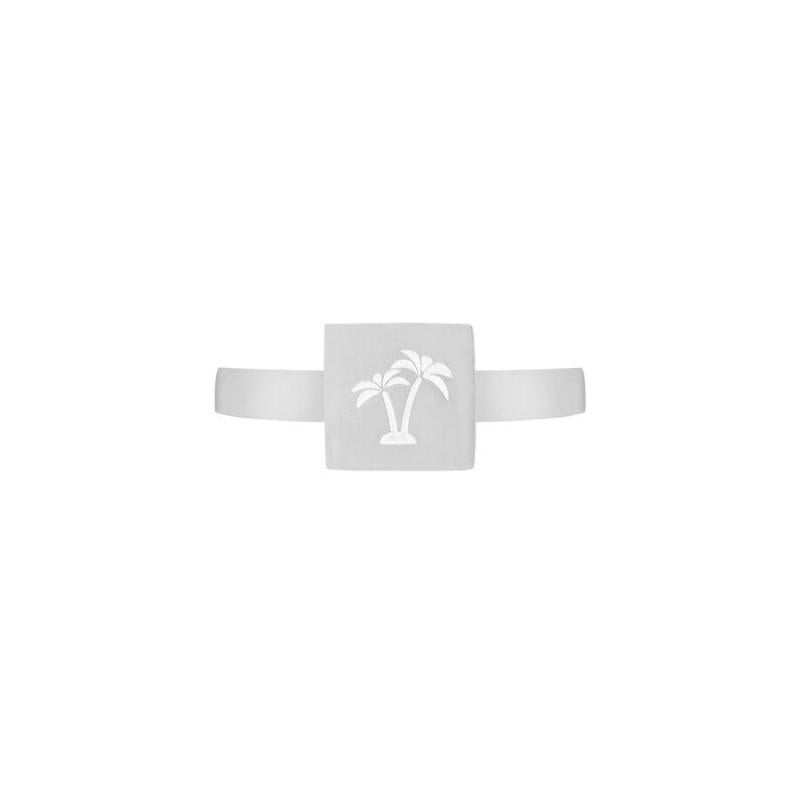 Silver Plate Palm - Ring