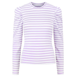 Anna Lila Striped - Top
