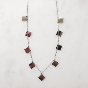 Squares Silver - Necklace