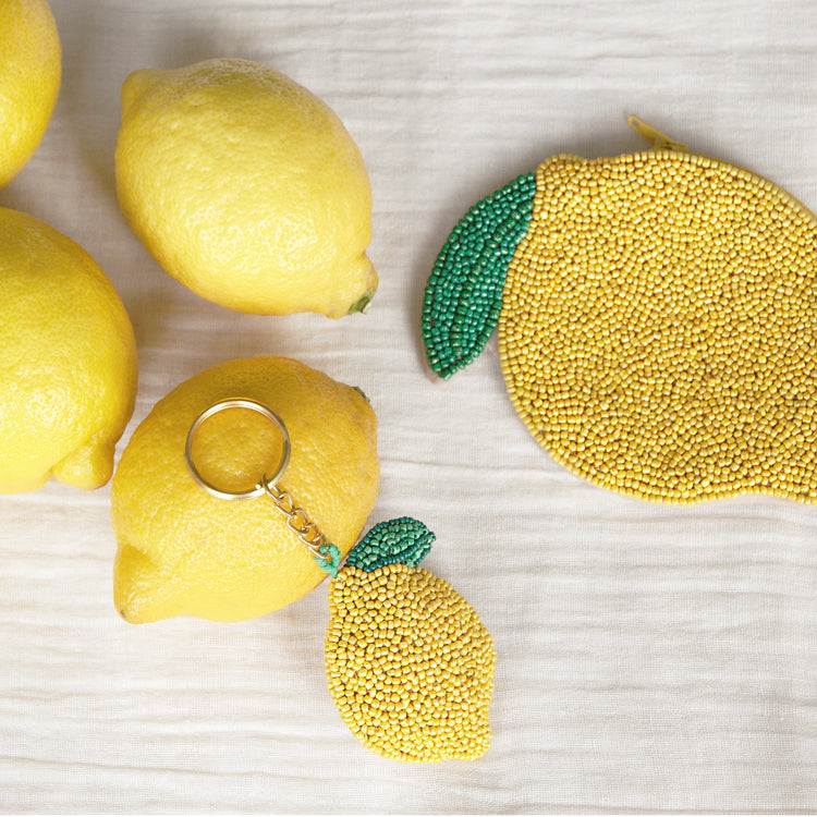 Beaded Lemon - Keychain