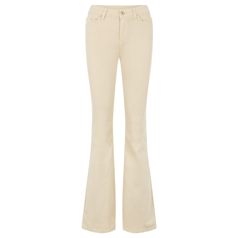 Delly Beige - Flared Jeans