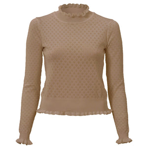 BRUINE-TOP-RUCHES-IVONA-BROWN-TOP-PF1