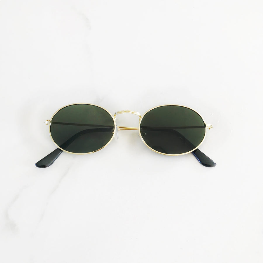 Becky Oval Green - Sunglasses