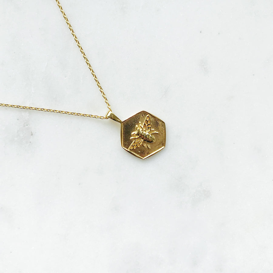 INDY-GOLDEN-NECKLACE-GOUDEN-KETTING-BEE-ELINE-ROSINA