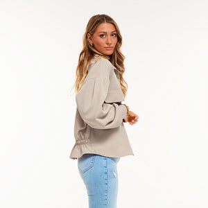 Clara Dark Beige - Jacket