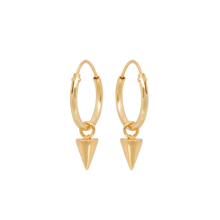 Cone Hoops Gold - Earrings