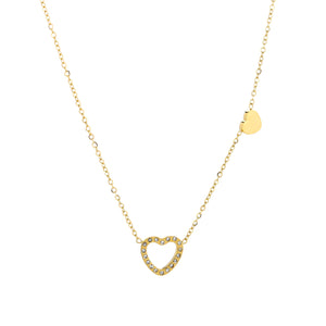 Double Heart Golden - Necklace