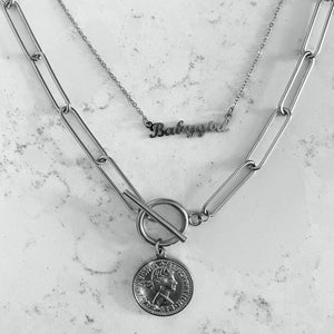 ZILVEREN-KETTING-MUNT-COIN-CHAIN-SILVER-NECKLACE-SF1