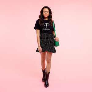 ZULA-DOTTED-SKIRT-BLACK