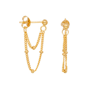 Two Chain Golden - Earrings
