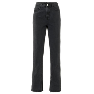 Benthe Dark Grey - Split Jeans