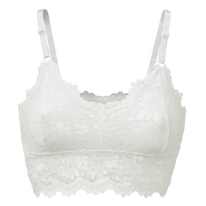 Luna White - Lace Bra