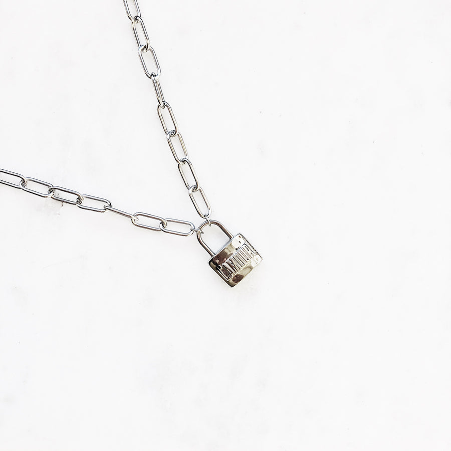 Lock Silver - Necklace