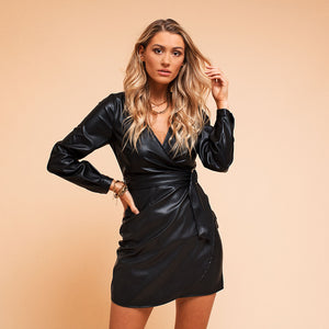 Kimmi Black - Leather Dress