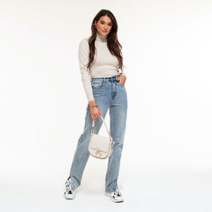 Chelsey Light Blue - Split Jeans