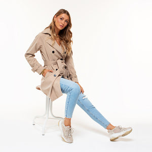 Stephy Taupe - Trenchcoat