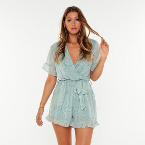 Ivory Mint - Playsuit