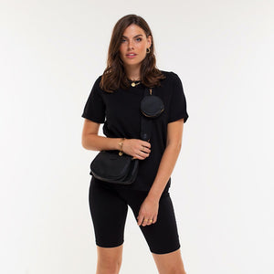 Lucy Shiny Black - Biker Short