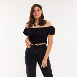 Cassie Black - Crop Top