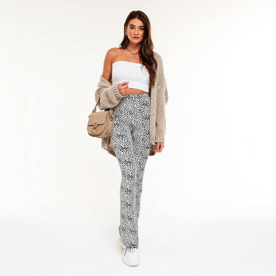 Elin Off White - Flare Pants