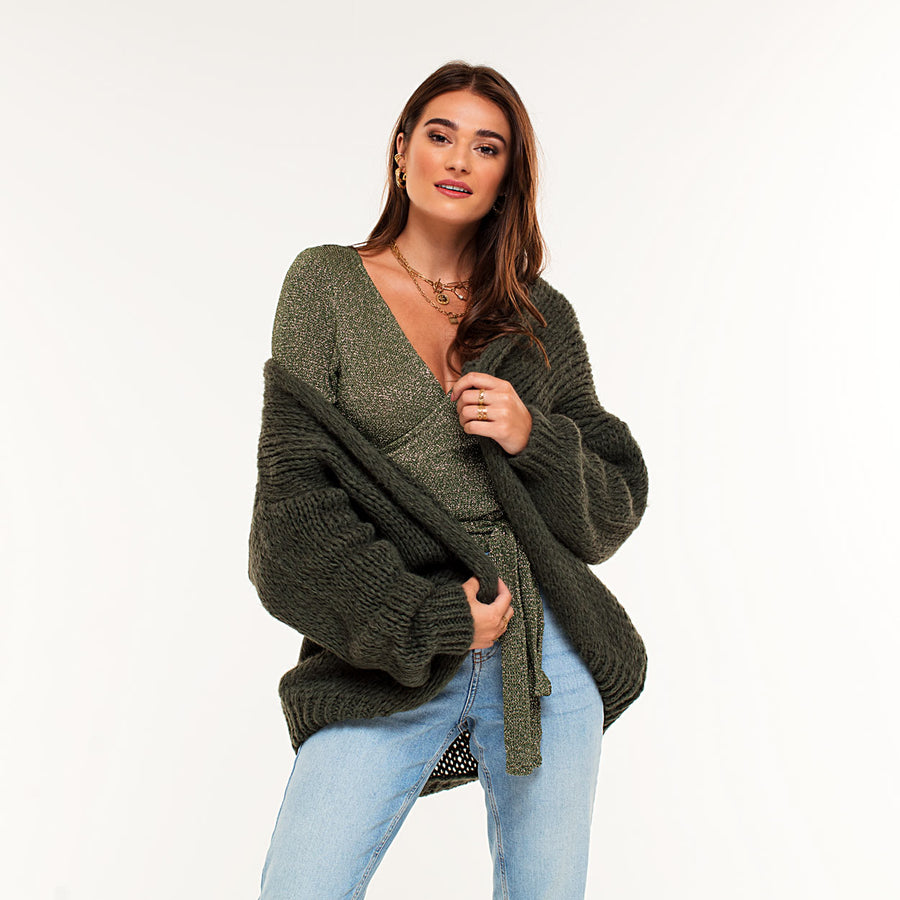 Yasmine Army Green - Cardigan