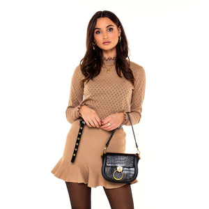 BRUINE-ROK-RUCHES-JUNE-BROWN-SKIRT-SF2