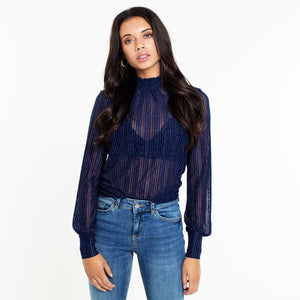 Lua Blue Glitter - Top