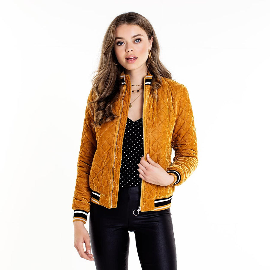 PIECES-TERESE-GOLD-BOMBER-JACKET-PF1