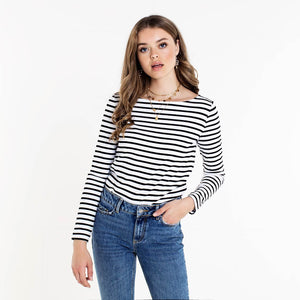 PIECES-INGRID-NIKKI-STRIPED-BLACK-TOP-SF