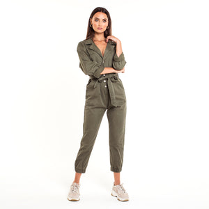 Cara Army Green - Jumpsuit