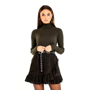 RUFFLE-ARMY-GREEN-SKIRT-SF1-ROK-MOST-WANTED