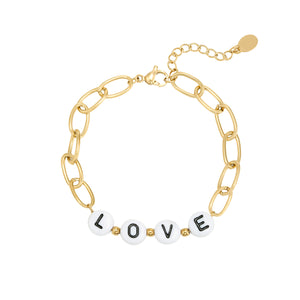 Beads Love Golden -Bracelet