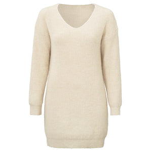 Mara Long Beige - Knit