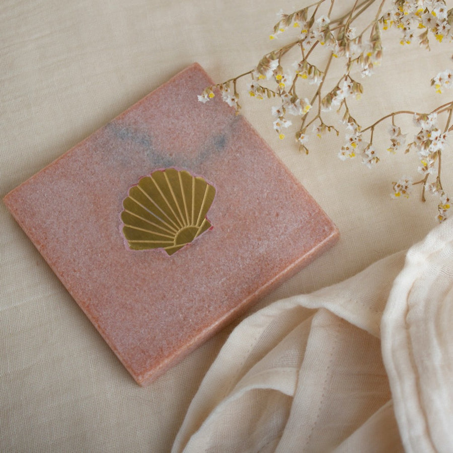 Marble Shell Pink - Coaster