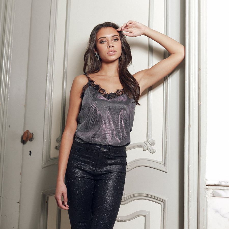 RUT&CIRCLE-MAYA-METALLIC-TOP-PF