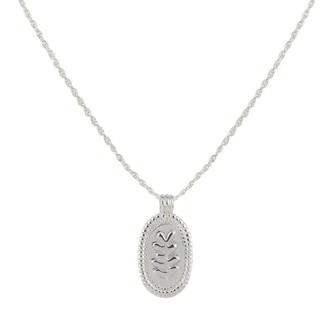 Ava Leaf Silver - Necklace