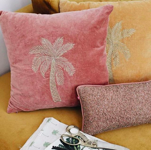 ALA-CUSHION-PINK-PALMTREE-VELVET-SF