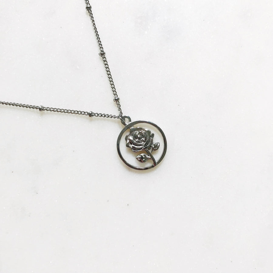 Rosey Silver - Necklace