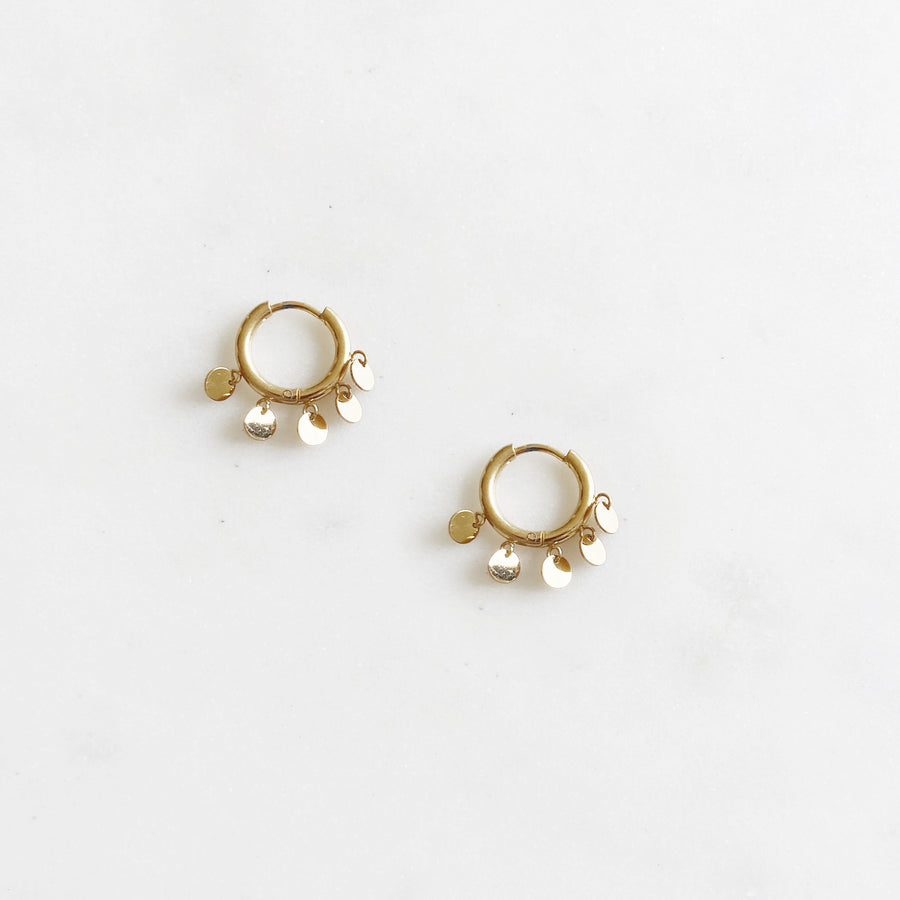Floating Circle Golden - Earrings