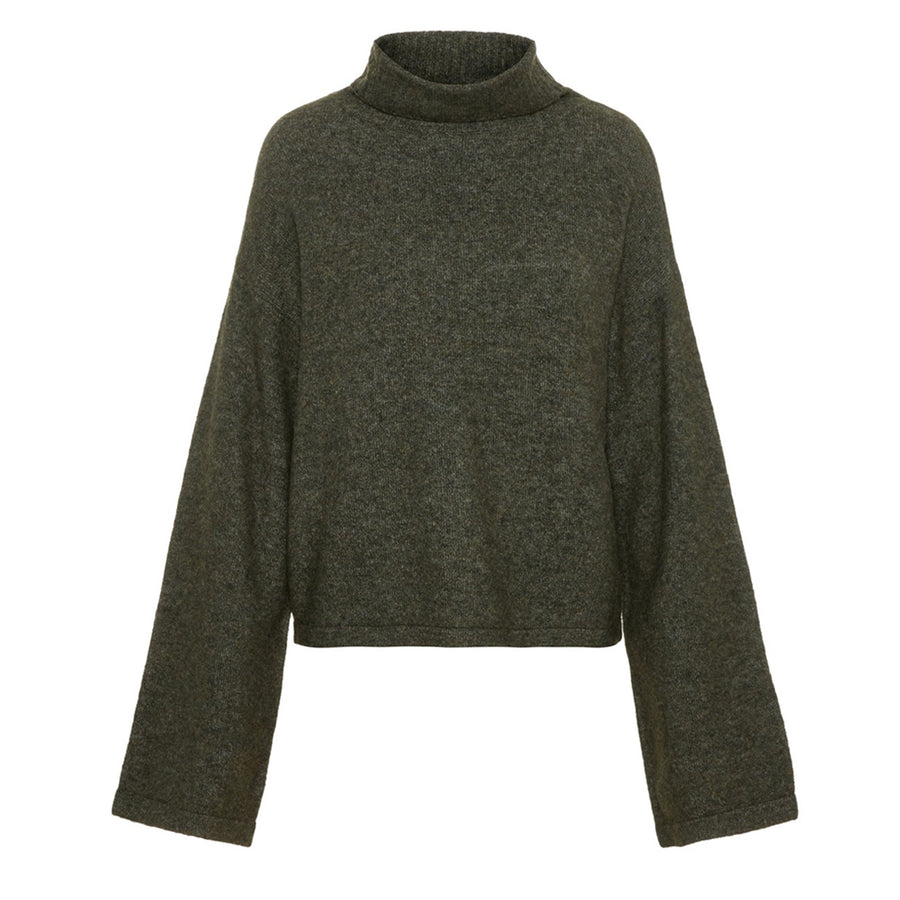 HONEY-ARMY-GREEN-KNIT-COLTRUI-MET-UILOPENDE-MOUWEN-ARMY-GREEN-PF1
