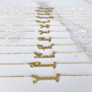 Month Golden - Necklace