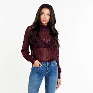 Lua Bordeaux Glitter - Top