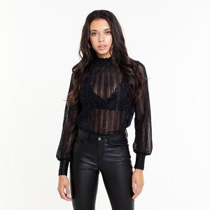 Lua Black Glitter - Top