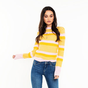 PIECES-BELKA-YELLOW-KNIT-SF