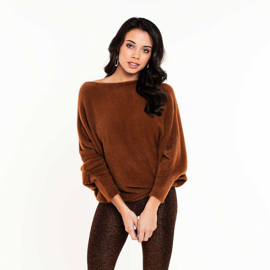 BHARTI-BAT-HAIRY-BROWN-KNIT-PF