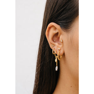 Zirconia Medium Golden - Hoops
